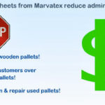 Photo showing that fibre-pul slipsheet from Marvatex reduce administrative costs